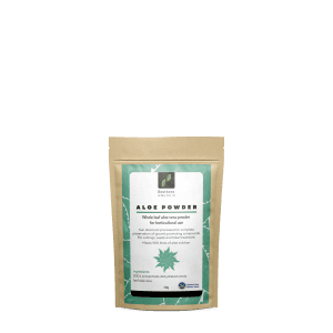 bag of powdered aloe vera concentrate 50 grams