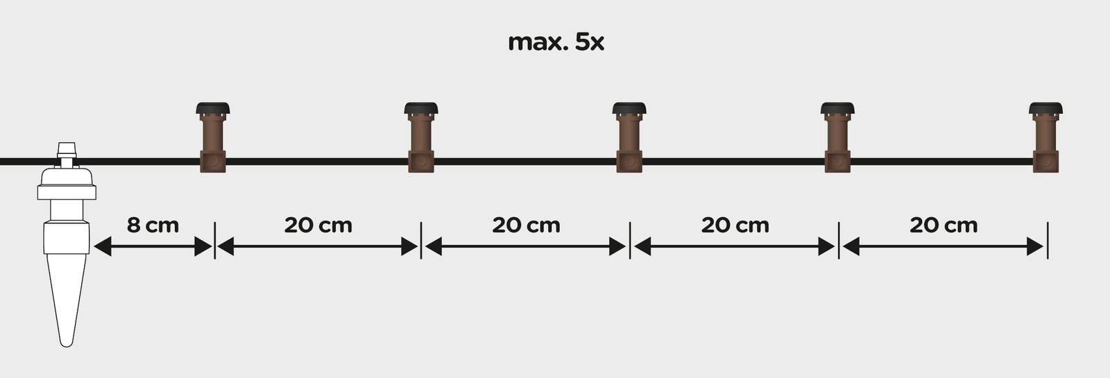 Blumat dripper installation diagram